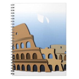 Carnet Histoire antique Italie de Colisé de Coliseo Roma