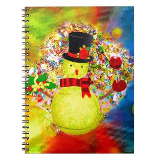 Carnet Homme de balle de tennis de neige dans un nuage