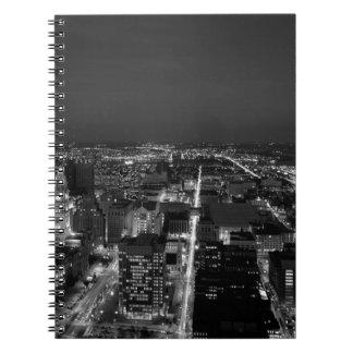 Carnet Horizon noir et blanc de Philadelphie