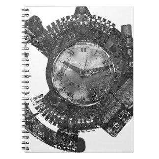Carnet Horloge de Steampunk