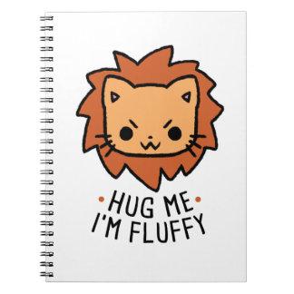 Carnet Hug Me I'm Fluffy
