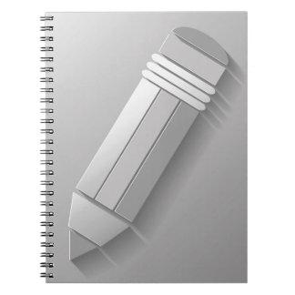 Carnet icône de stylo