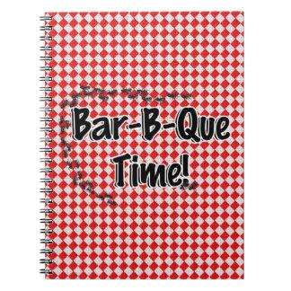 Carnet Il est temps de BBQ ! Nappe Checkered rouge w/Ants