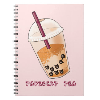 Carnet Illustration de calembour de thé de Tapiocat