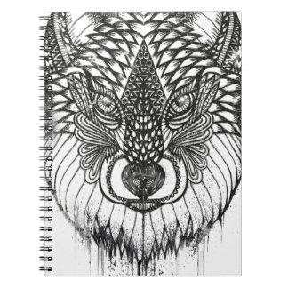 Carnet Illustration de mandala de loup