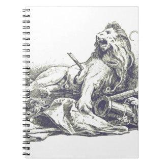Carnet Illustration vintage de lion