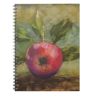 Carnet Illustrations originales peignant la pomme rouge