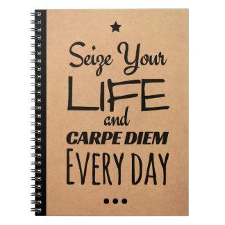 Carnet inspiré pour la motivation : Carpe Diem !