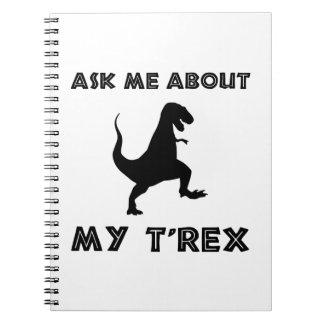 Carnet Interrogez-moi au sujet de T Rex drôle