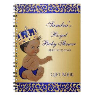 Carnet Invité de cadeau d'or de prince bleu royal