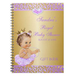 Carnet Invitée de princesse Lilac Lavender Gold Gift