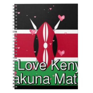 Carnet J'aime ! Art drôle de conception de note du Kenya