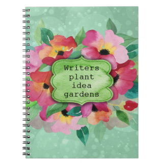 Carnet Jardins roses d'idée d'usine d'auteurs du bouquet
