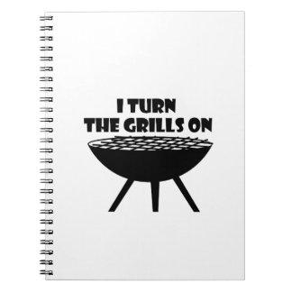 Carnet Je tourne les grils sur l'amusement de cuisinier