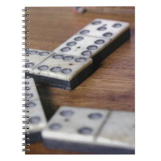 Carnet Jeu vintage en bois de dominos de domino de