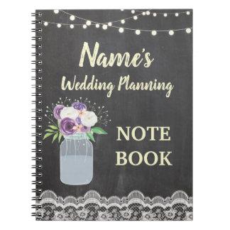 Carnet Jeune mariée rustique de planification de mariage