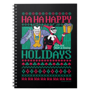 Carnet Joker et Harley Quinn de Batman   bonnes fêtes