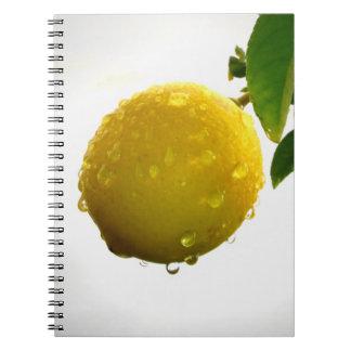 Carnet/journal personnel - citron jaune carnets à spirale