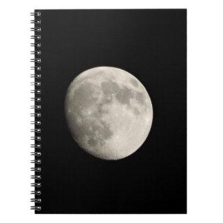 Carnet/journal personnel - pleine lune sur la SK f Carnet À Spirale
