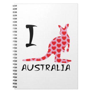 Carnet Kangourou de l'Australie du coeur I