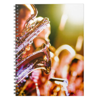 Carnet Klaxons de saxophones d'instruments de musique de