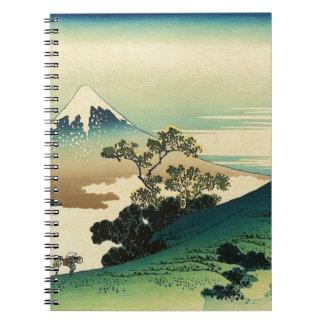 Carnet Koshu Inume Toge - art de Katsushika Hokusai