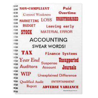 Carnet La comptabilité jurent la plaisanterie de
