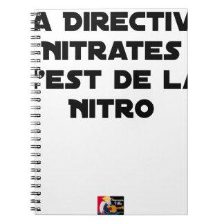 Carnet La Directive Nitrates, c'est de la Nitro - Jeux de