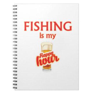 Carnet La pêche est mon heure heureuse