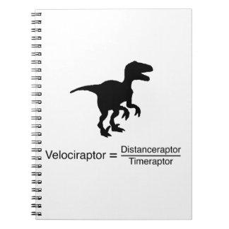 Carnet la science drôle de velociraptor