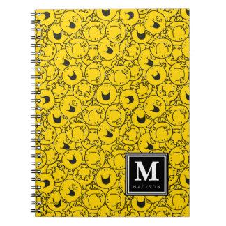 Carnet La série du motif jaune   de sourires ajoutent
