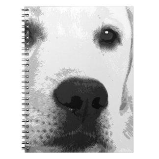 Carnet Labrador retriever noir et blanc