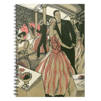 Carnet L'art déco vintage épousant, nouveaux mariés