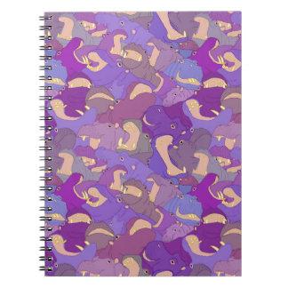 Carnet Laughing Hippos - purple