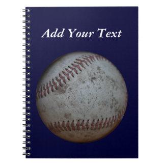 Carnet Le base-ball de bleu marine ajoutent l'école