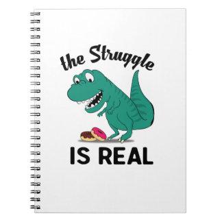 Carnet le dinosaure T Rex le Struggl est vrai beignet