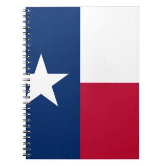 Carnet Le drapeau solitaire du Texas de drapeau d'étoile