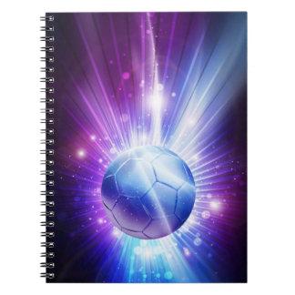 Carnet Le football brillant de ballon de football