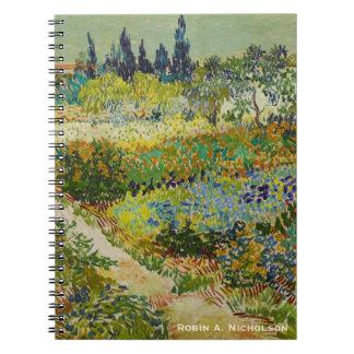 Carnet Le jardin de Van Gogh chez Arles a personnalisé