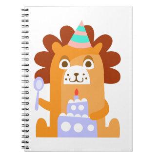 Carnet Le lion avec la partie attribue génial stylisé