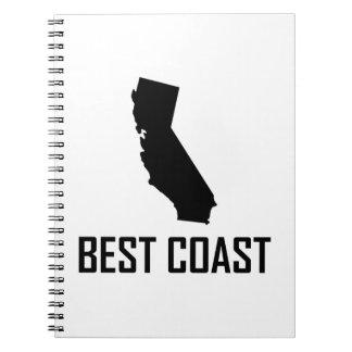 Carnet Le meilleur noir de la Californie de côte ouest