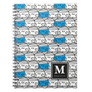 Carnet Le motif bleu   de M. Bump   ajoutent votre nom