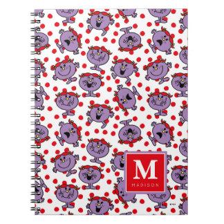 Carnet Le motif de point rouge de polka   ajoutent votre