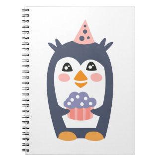 Carnet Le pingouin avec la partie attribue génial stylisé