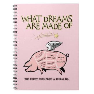 Carnet Le porc de vol Coupe-Ce qui rêve sont faits de