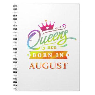 Carnet Le Queens sont en août cadeau d'anniversaire né