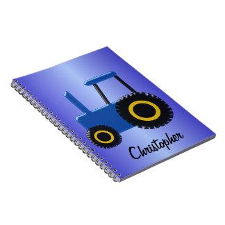 Carnet Le tracteur bleu ajoutent juste le nom