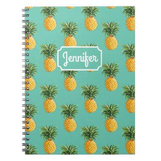Carnet Les ananas tropicaux sur Teal   ajoutent votre nom
