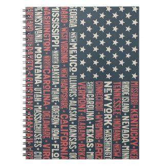 Carnet Les Etats-Unis d'Amérique |States et capitaux