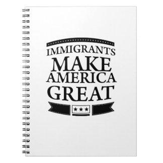 Carnet les immigrés rendent l'Amérique grande